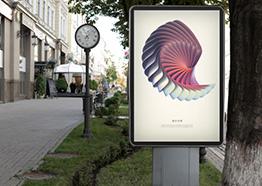 公共场所广告牌展示样机