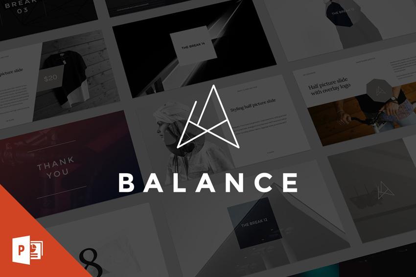 简约平衡的 keynote 模板