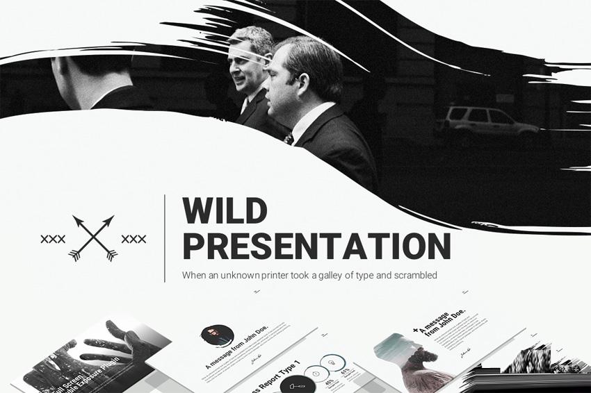 大气动感商务 keynote 模板