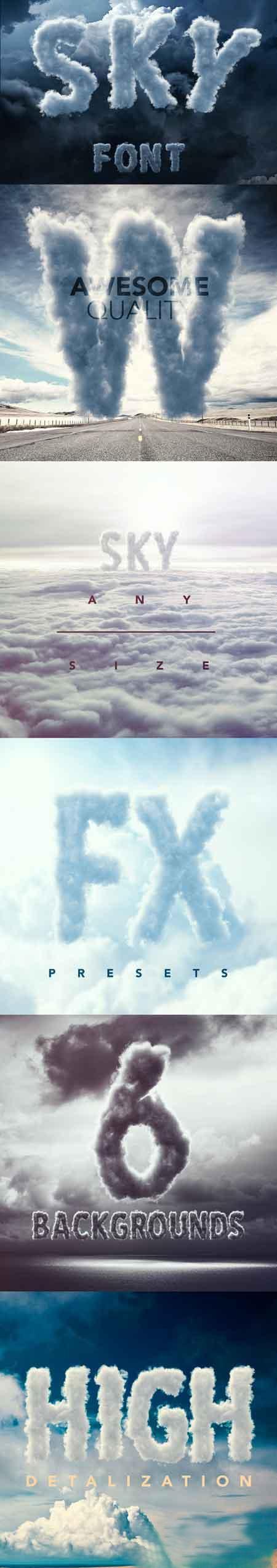 Sky-Cloud-Font-717251