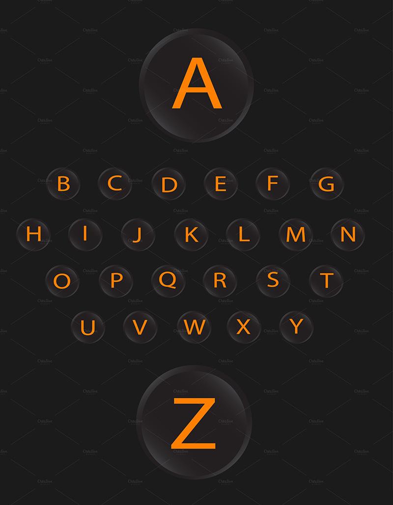 alphabets-vector-design-neon-yellow-o