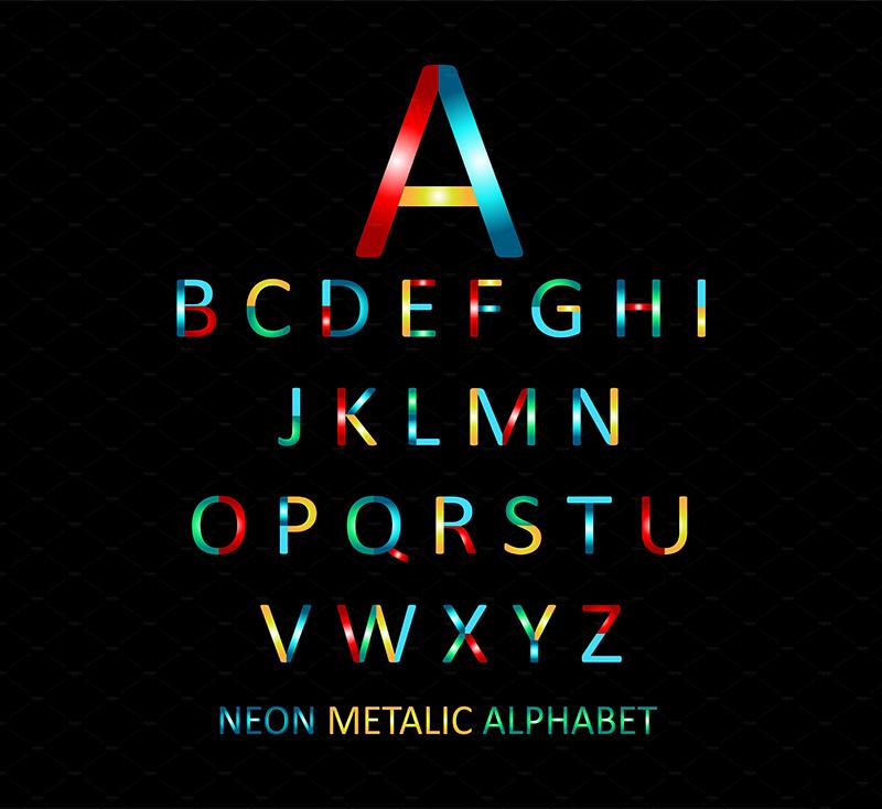 neon-metalic-alphabet-2-o