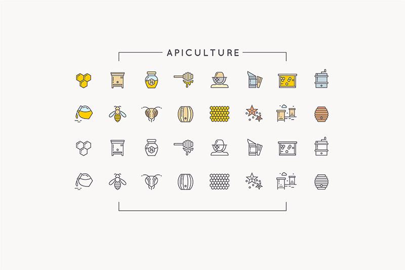 112个农场园艺养蜂类图标