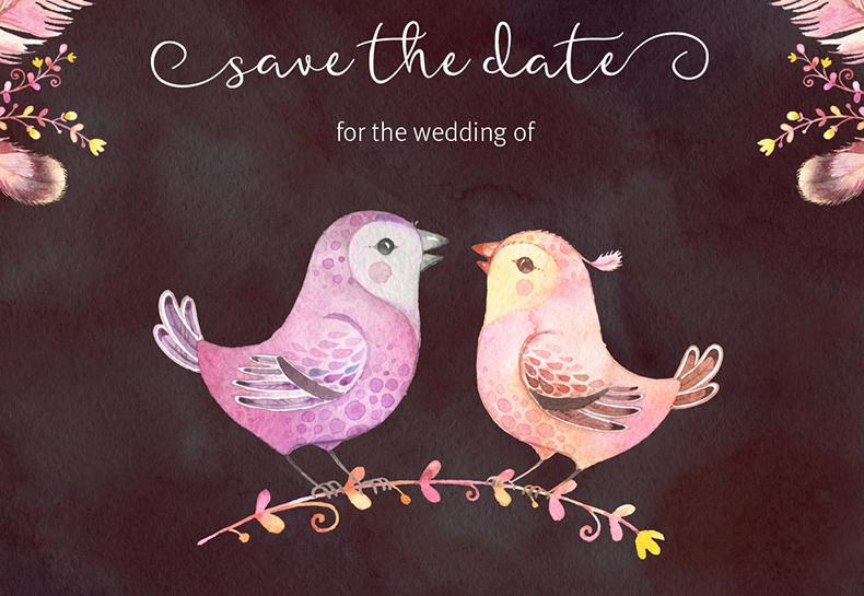 婚礼花式字体素材