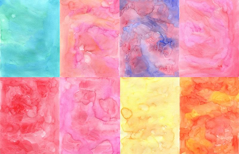 40张水粉晕染水彩纸纹理高清图片 大设天下 原设计大学