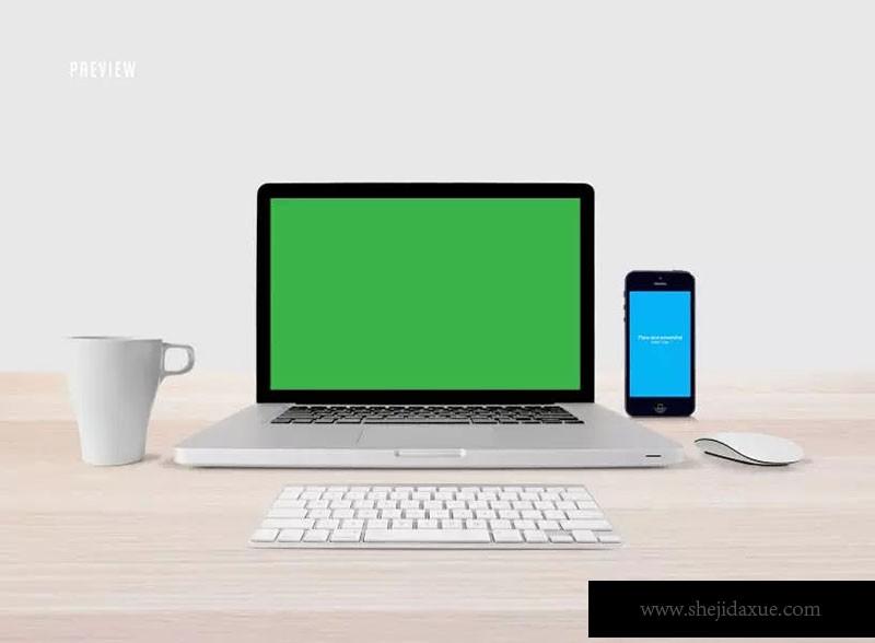 响应式网页设计创新套件样机ResponsiveMoc服装设计预览图片