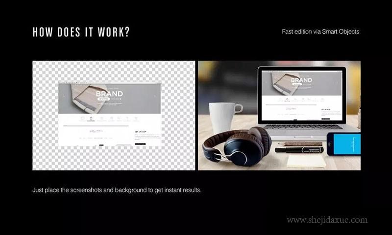 预览式网页设计响应标语样机ResponsiveMoc广告设计该打什么套件图片