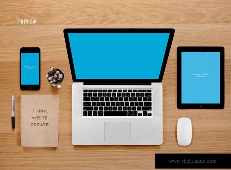 预览式网页设计响应套件样机ResponsiveMoc孩子王平面设计图片
