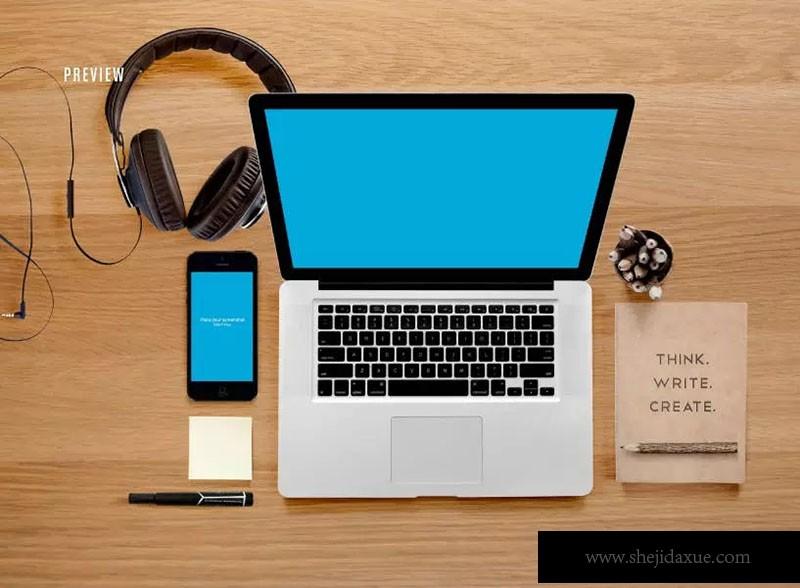 响应式网页设计预览套件样机ResponsiveMoc画册设计中英文字体要有衬线吗图片