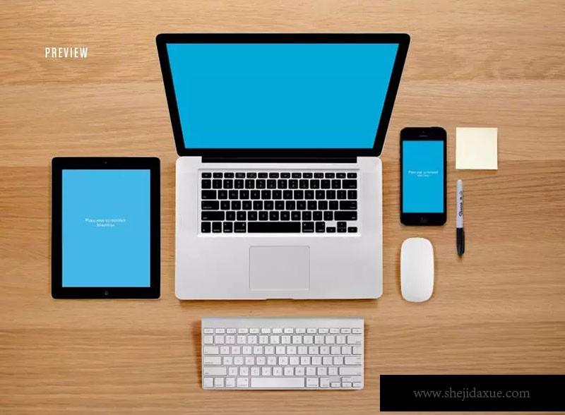 预览式网页设计响应样机套件ResponsiveMoc房地产网页广告设计图片