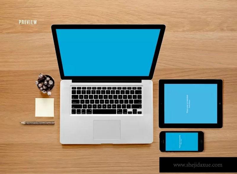 响应式网页设计预览套件样机ResponsiveMoc广告设计纪鹏图片