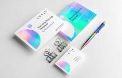 高端品牌样机贴图展示PSD模板 Lucid – Branding Mockup