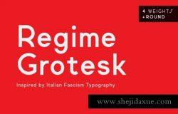 时尚现代的高端英文无衬线字体Regime Grotesk