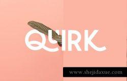 大胆堆叠无衬线英文字体 Quirk Fun Display Font