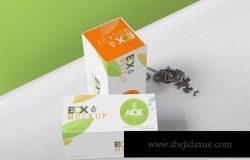 茶叶包装盒纸盒食品小礼盒展示效果图VI智能贴图PS样机素材