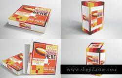 快餐披萨包装样机 Packaging Mock-ups