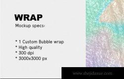 美国街头风格气泡纸塑料袋样机psd海报Bubble wrap