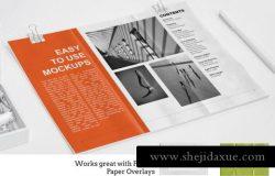 8个干净和现代的纸样机 8 Clean Contemporary Paper