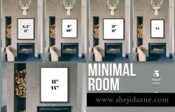 时尚复古画框素材 Minimal Room