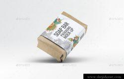 香皂肥皂包装贴纸展示样机