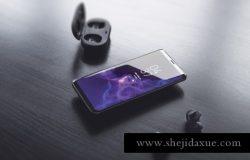 三星s9智能手机贴图展示样机PSD模版