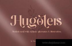 现代风格的衬线英文字体 Hugolers Stylish Serif Font