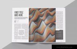 创意设计杂志版式设计模板 Create Magazine Template