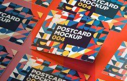 现代多图形组合拼装明信片模板