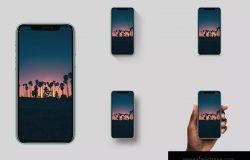 6色高分辨率iPhone 11手机样机PSD模板 High Res Mockup for iPhone