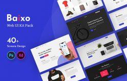 时尚现代网站设计Web UI套件