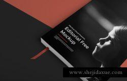 书籍封面贴图展示模版 Softcover Book Mockup