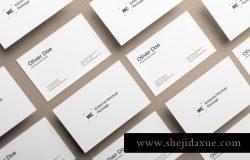 等距视角名片贴图展示模版 Business cards