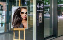 时尚高端大气的海报房地产户外广告advertising-space-mock-up-bundle