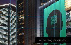 巨大的城市海报广告牌户外广告urban-poster-billboard-mock-ups