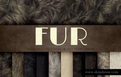 15种动物皮毛质感图层样式素材