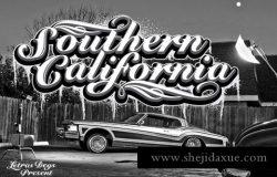 复古流行的手绘字体 Southern California