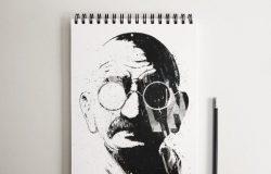 逼真素描册笔记本样机SketchBook_Notebook