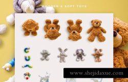 婴儿用品相关的样机素材 Baby Edition – Custom Scene