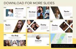 极简主义时尚行业产品目录&摄影PPT模板素材 Minimal Fashion Catalog & Photography Powerpoint