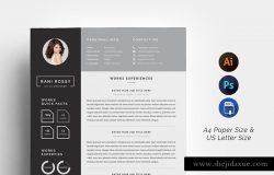 专业高端的简历设计模板 Word Infographic CV