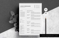 极简主义简历模板 Minimalist Resume