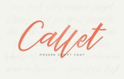 现代手写粗线条英文字体 Callet Script