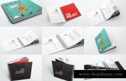 活页装订图书/目录样机 Spiral Bound Book / Catalogue Bundle Mockups