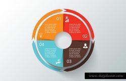 矢量圆形信息图表模板v.4 Infographics template set v.4