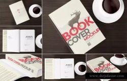 精装封面厚书籍外观设计样机模板 6 Book Mockups