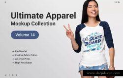 逼真时尚T恤服装样机Vol.14 Ultimate Apparel Mockup Vol. 14