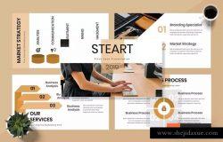 时尚企业主题PPT幻灯片演示模板 Steart – Pitch Deck Powerpoint Presentation