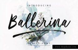 现代优雅书写风格英文手写字体 Ballerina | Script Font MS