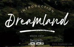 画笔笔刷英文手写字体 Dreamland | Brush Font MS