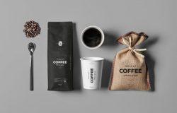高端品牌咖啡店咖啡豆模型Coffe Mock-up
